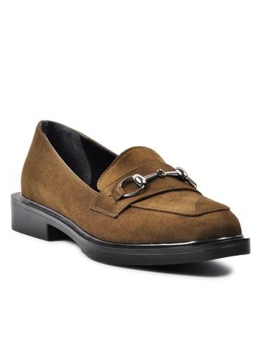 Esstii 8905 Haki Süet Kadın Günlük Ayakkabı Haki
